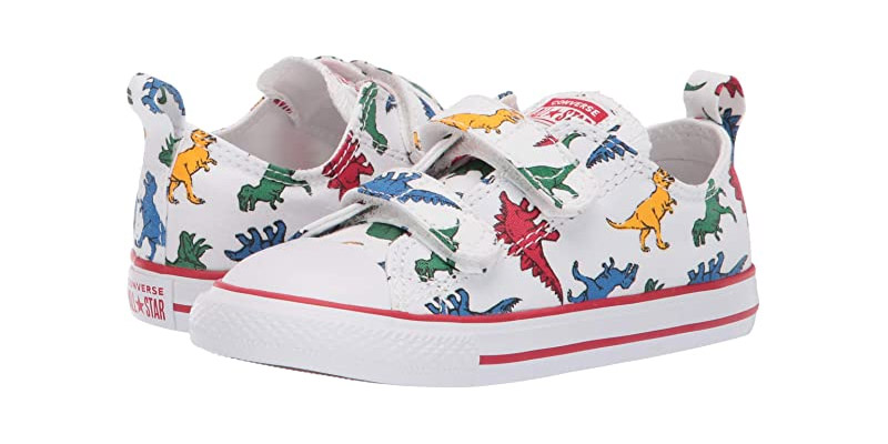 1. Converse Chuck Taylor All Star Dinoverse 2v White Low Top Sneaker