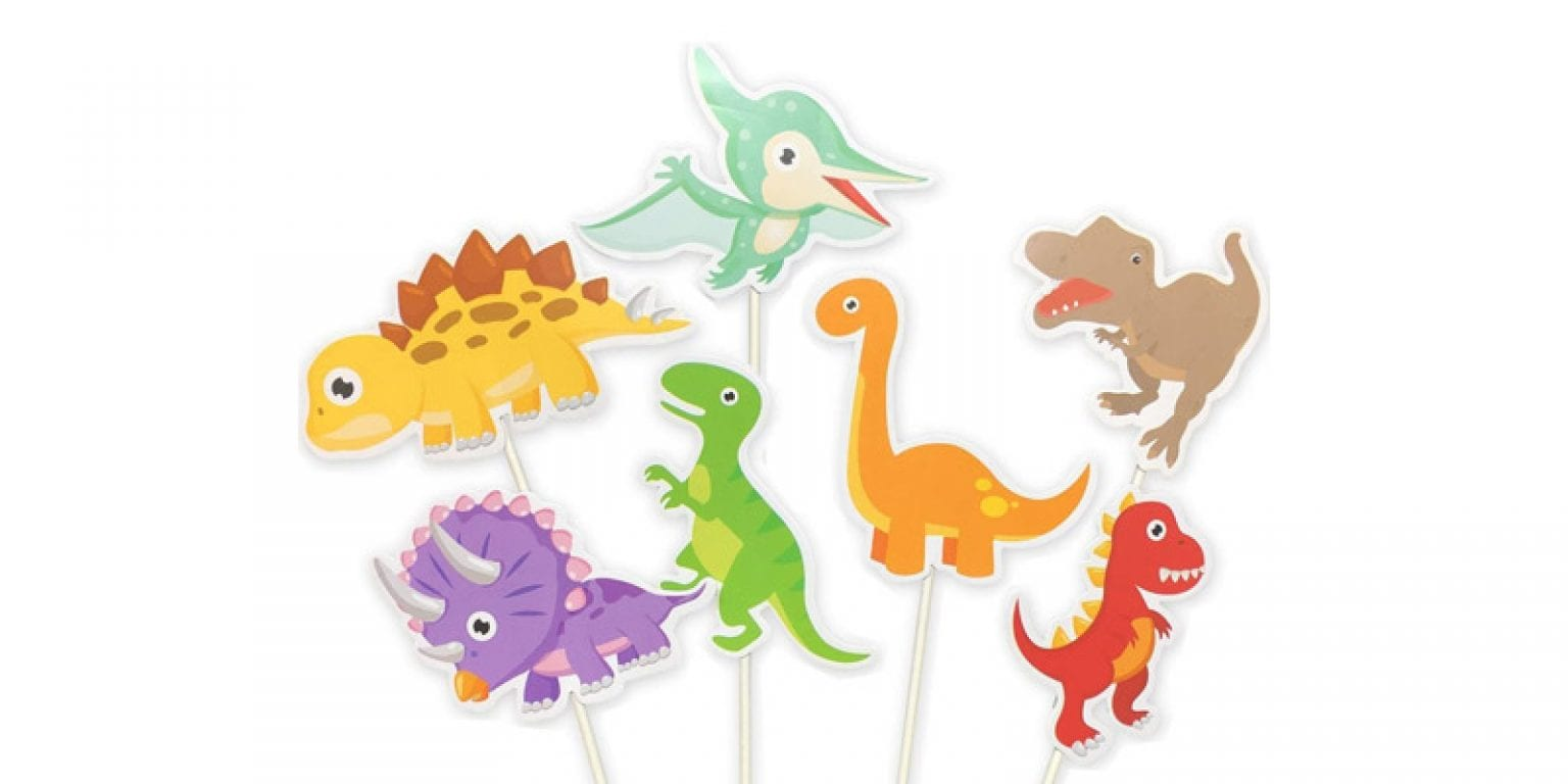 6. ALISSAR Baby Dinosaur Cupcake Toppers (35 Pack)