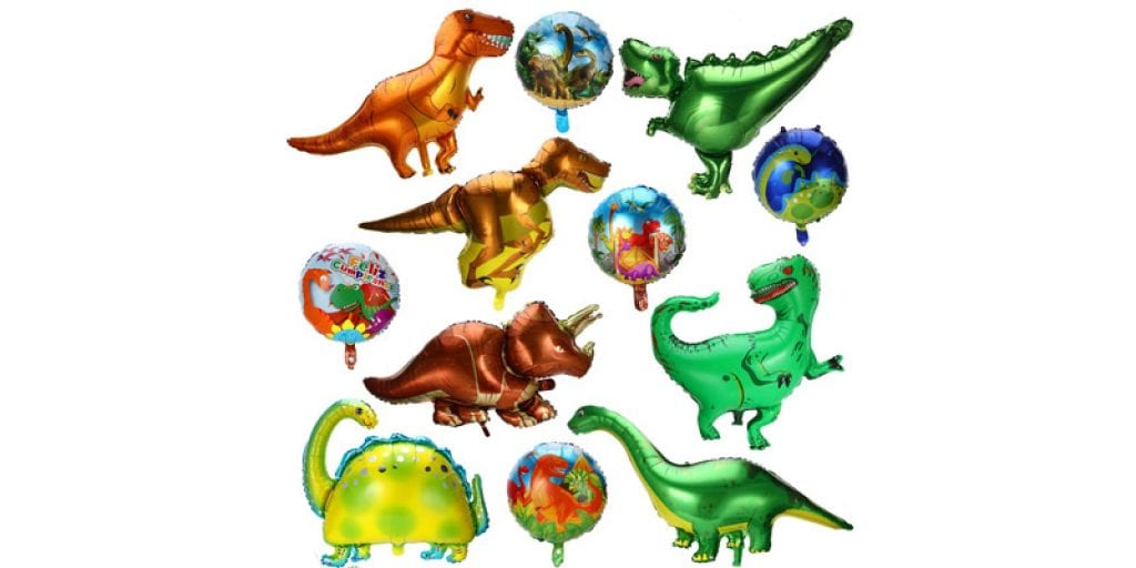 Gejoy Foil Dinosaur Party Balloons (12 Pieces)