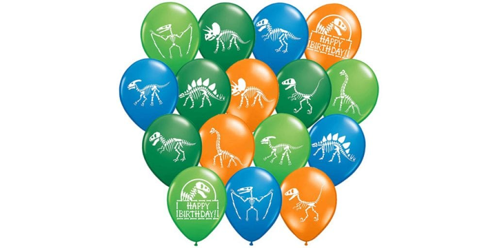 "Gypsy Jade's 12"" Latex Dinosaur Fossil Party Balloons (32 Pieces)"