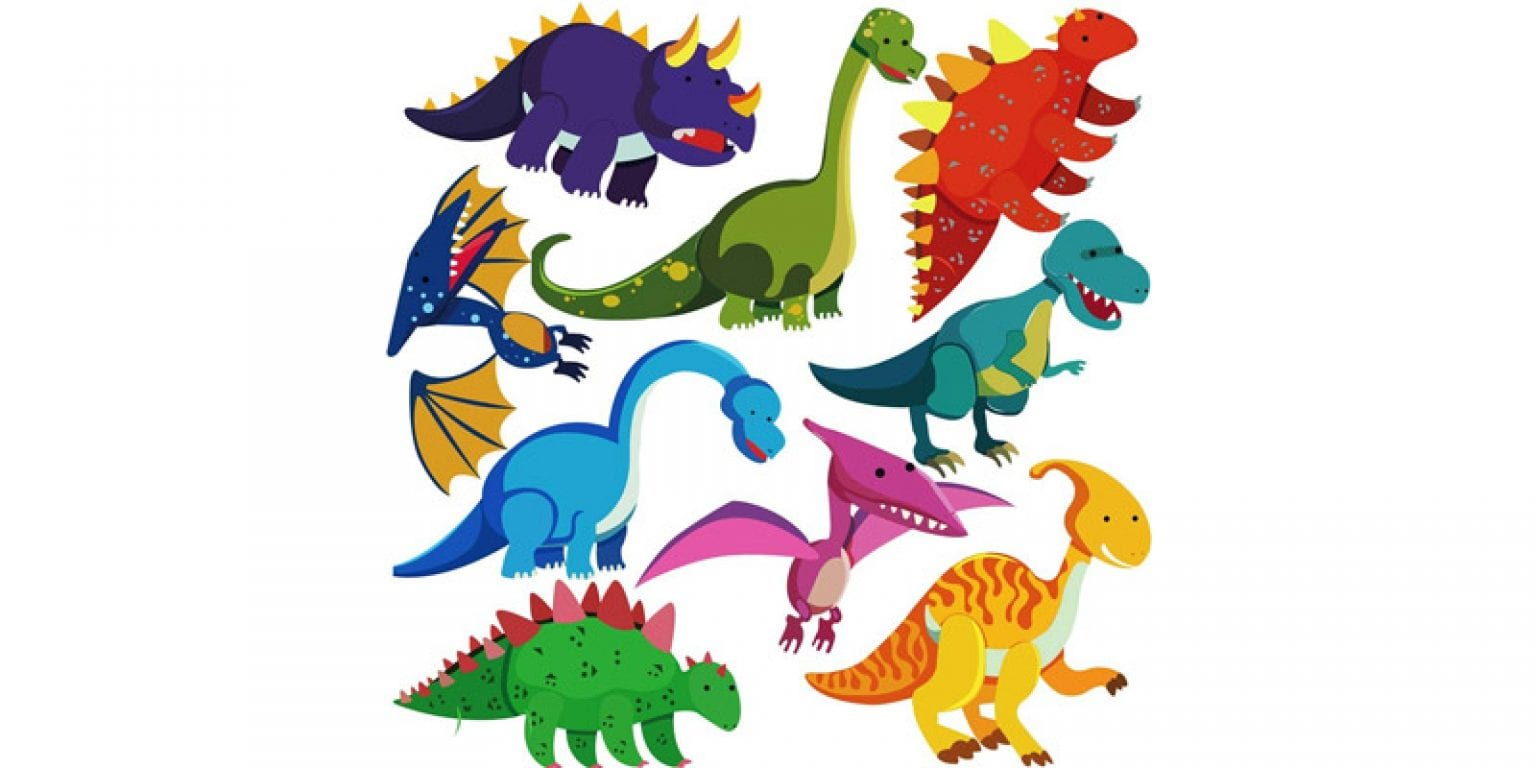 7. DEKOSH Colorful Peel and Stick Dinosaur Wall Decals