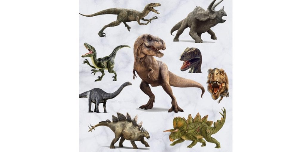 Kiddale 3D Dinosaur Kids Peel and Stick Removal Wall Stickers