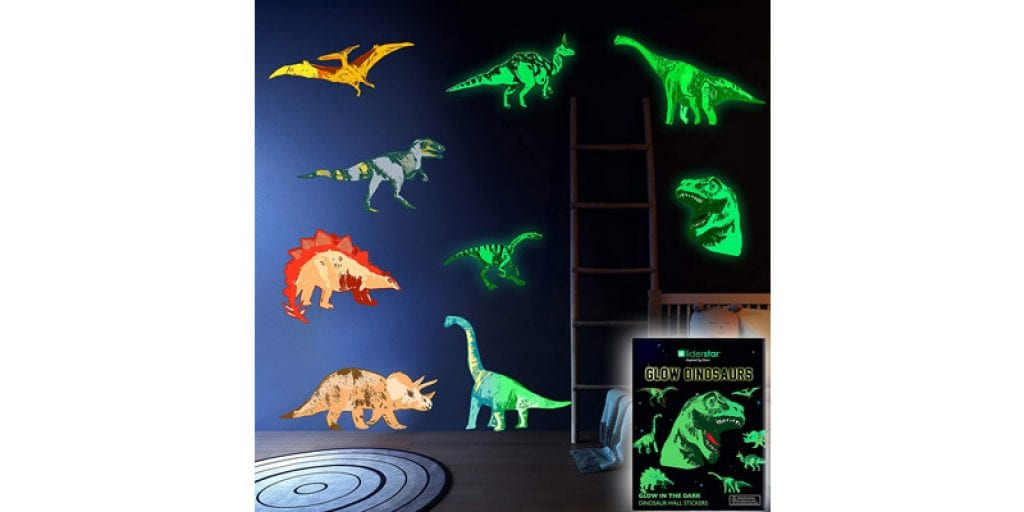 LIDERSTAR Dinosaur Glow in The Dark Vinyl Wall Decals