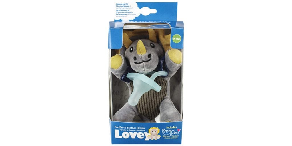 Dr. Brown's Triceratops Lovey Pacifier and Teether Holder