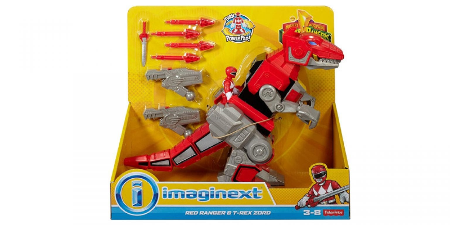 1. Fisher-Price Imaginext Power Rangers Red Ranger and T-rex Zord