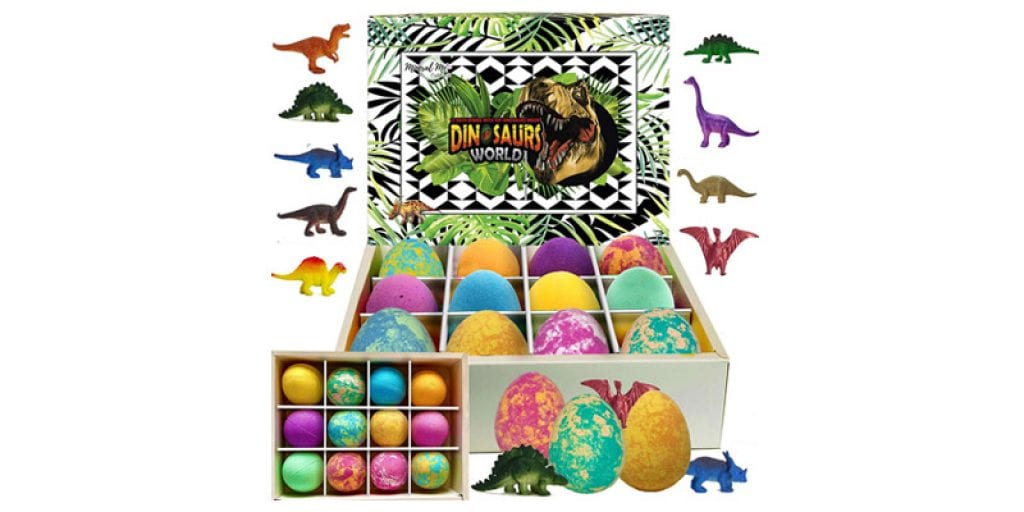 Mineral Me California Dinosaurs World Bath Bombs for Kids (12 pieces)