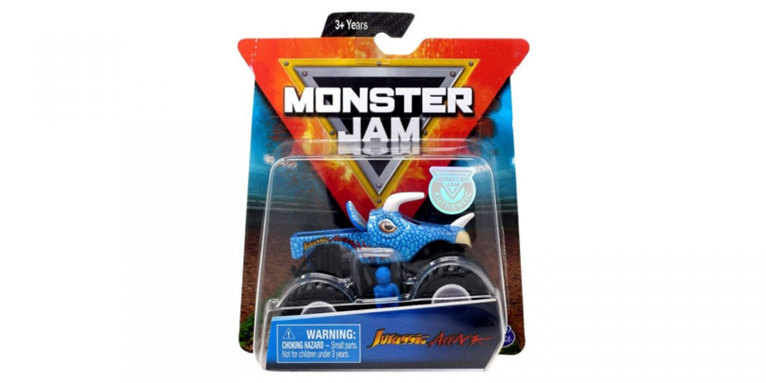 10. MJ Monster Jam 1:64 Scale Jurassic Attack with Figure