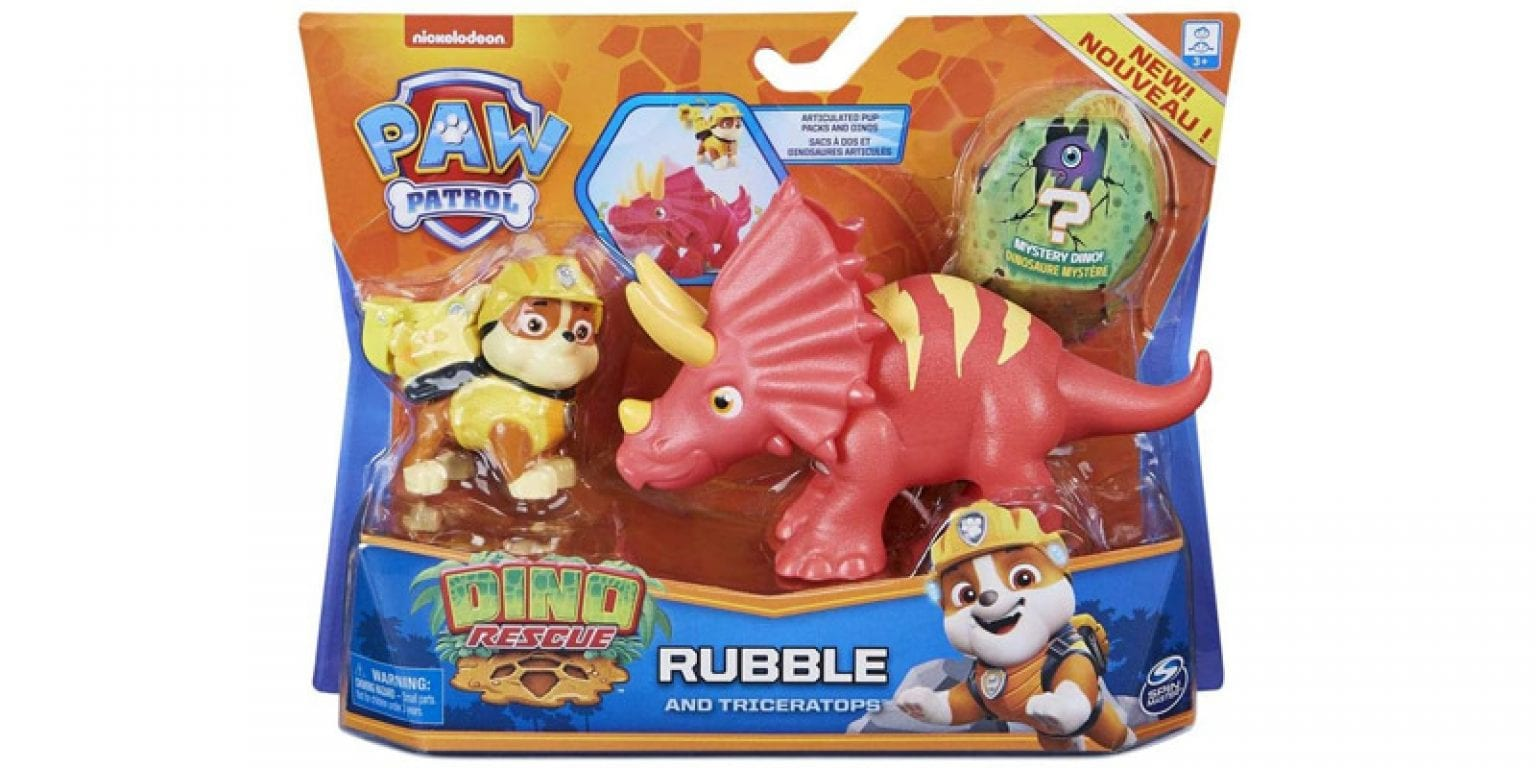 4. Paw Patrol Dino Rescue Rubble and Triceratops
