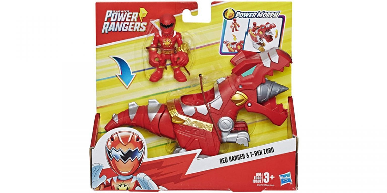 6. Playskool Heroes Power Rangers Red Ranger and T-Rex Zord