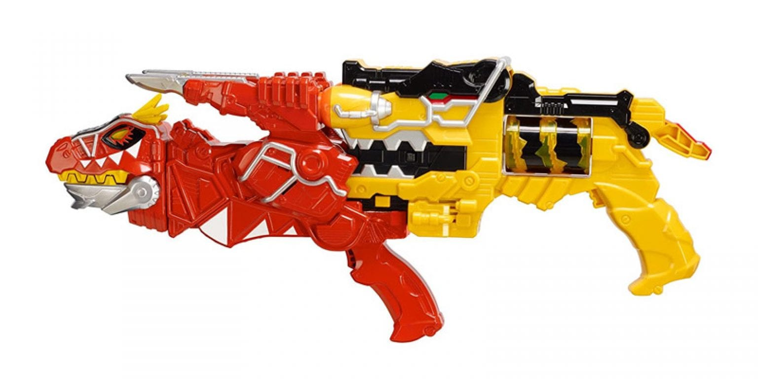 4. Power Rangers Dino Super Charge Morper and T-Rex Morpher Blaster Set