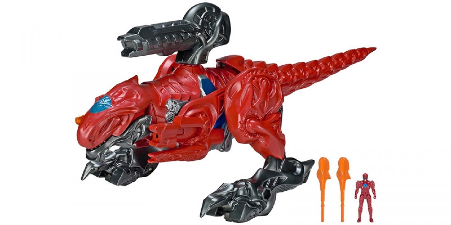 5. Power Rangers Movie T-Rex Battle Zord with Red Ranger