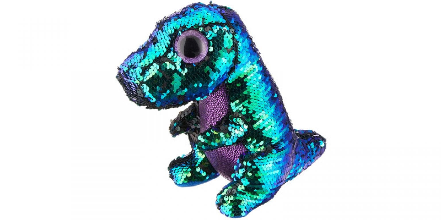 4. Ty Crunch Dino Sequin Flippable Boo