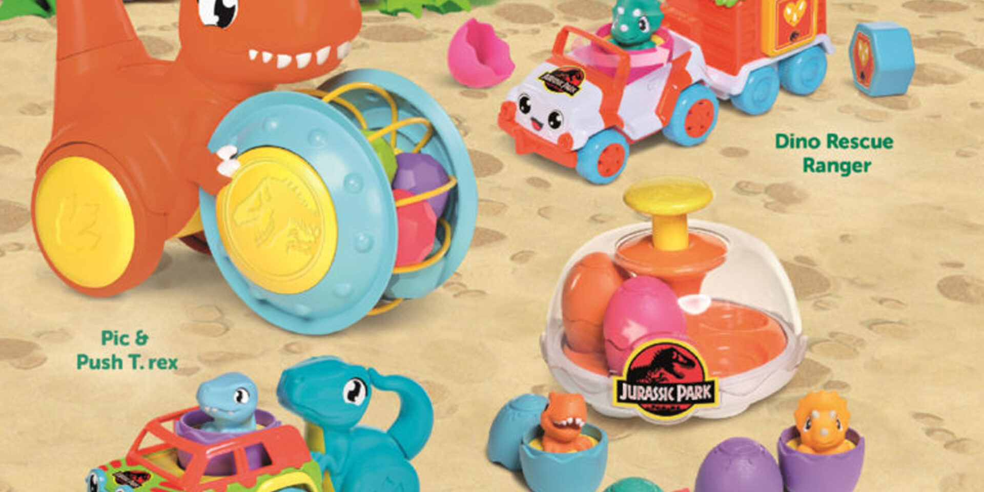 TOMY teams up with Universal for all-new Jurassic World licensed Toomies and Pop-Up T-Rex toys
