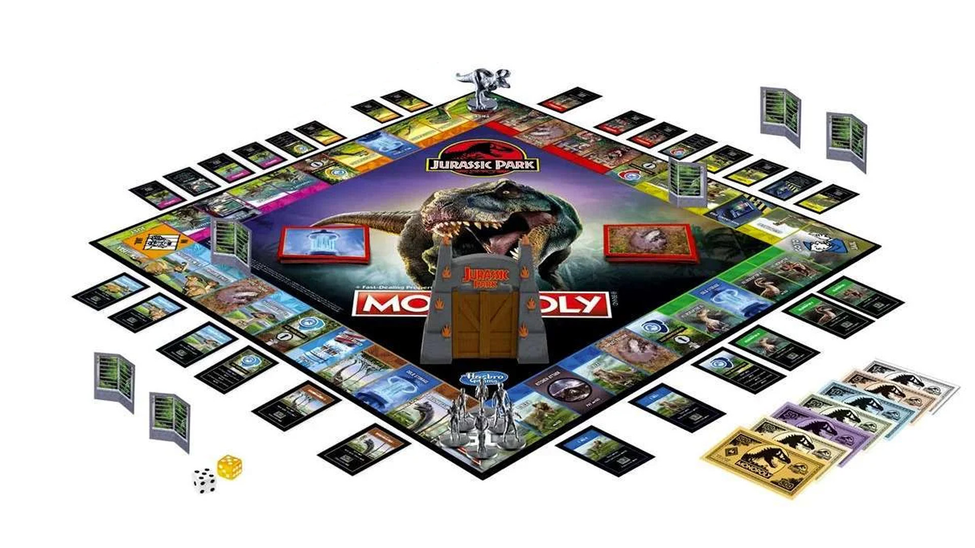 Host the ultimate dino-themed game night with all-new Monopoly Jurassic Park Edition