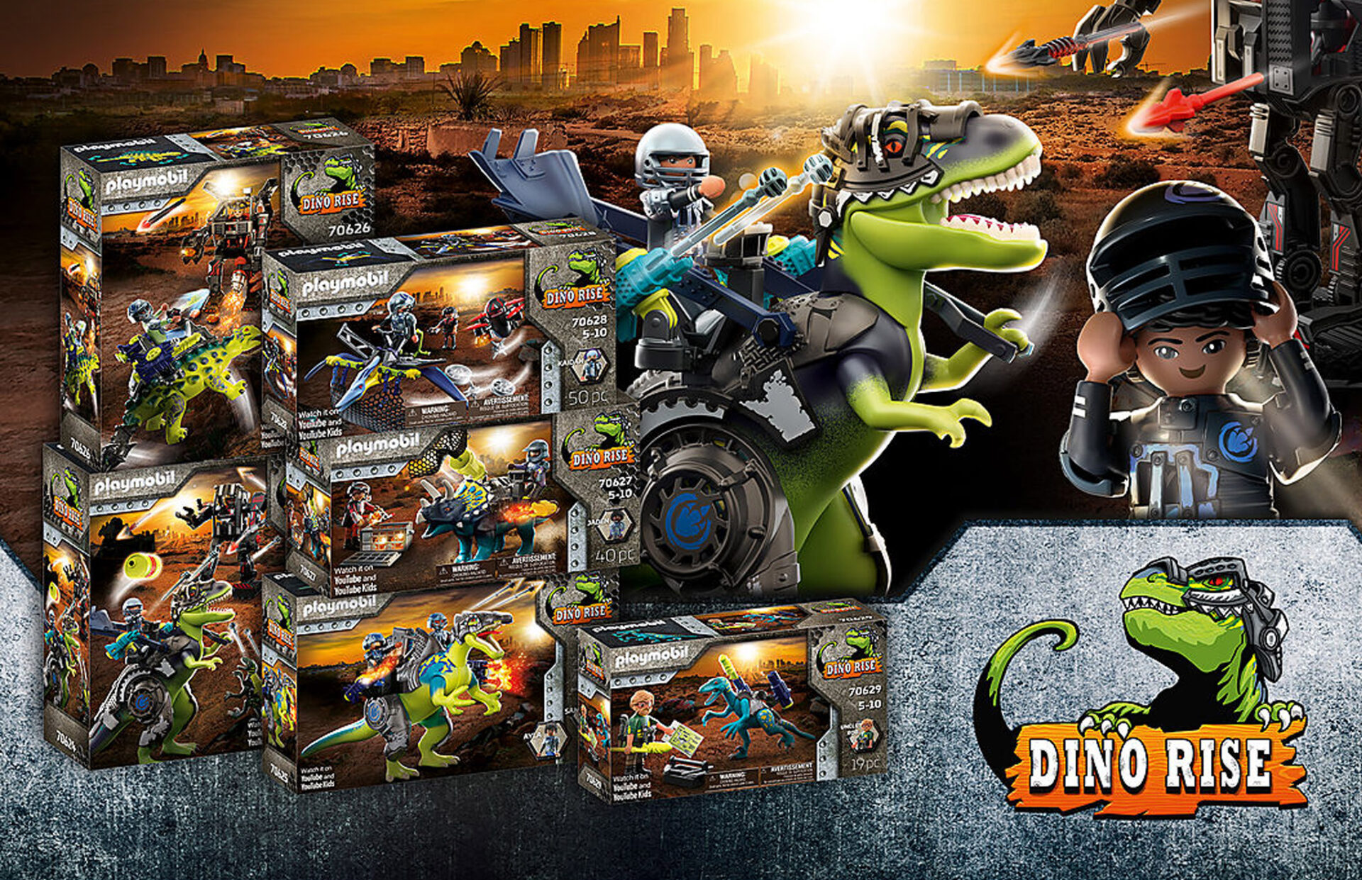 Playmobil launches all-new Dino Rise range and YouTube Series – The Legend of Dino Rock